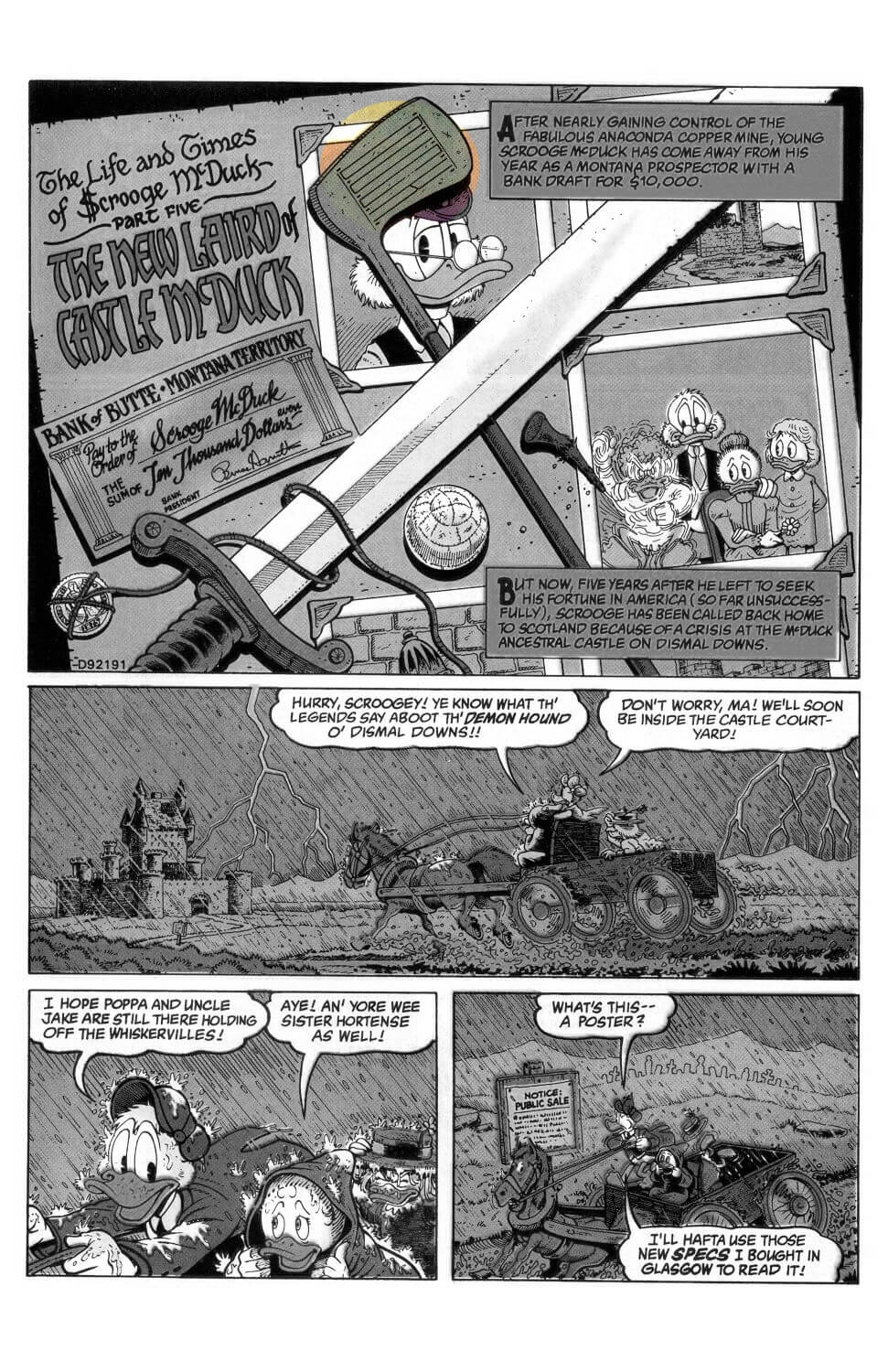 D.U.C.K in Chapter 05 - The New Laird of Castle McDuck first page