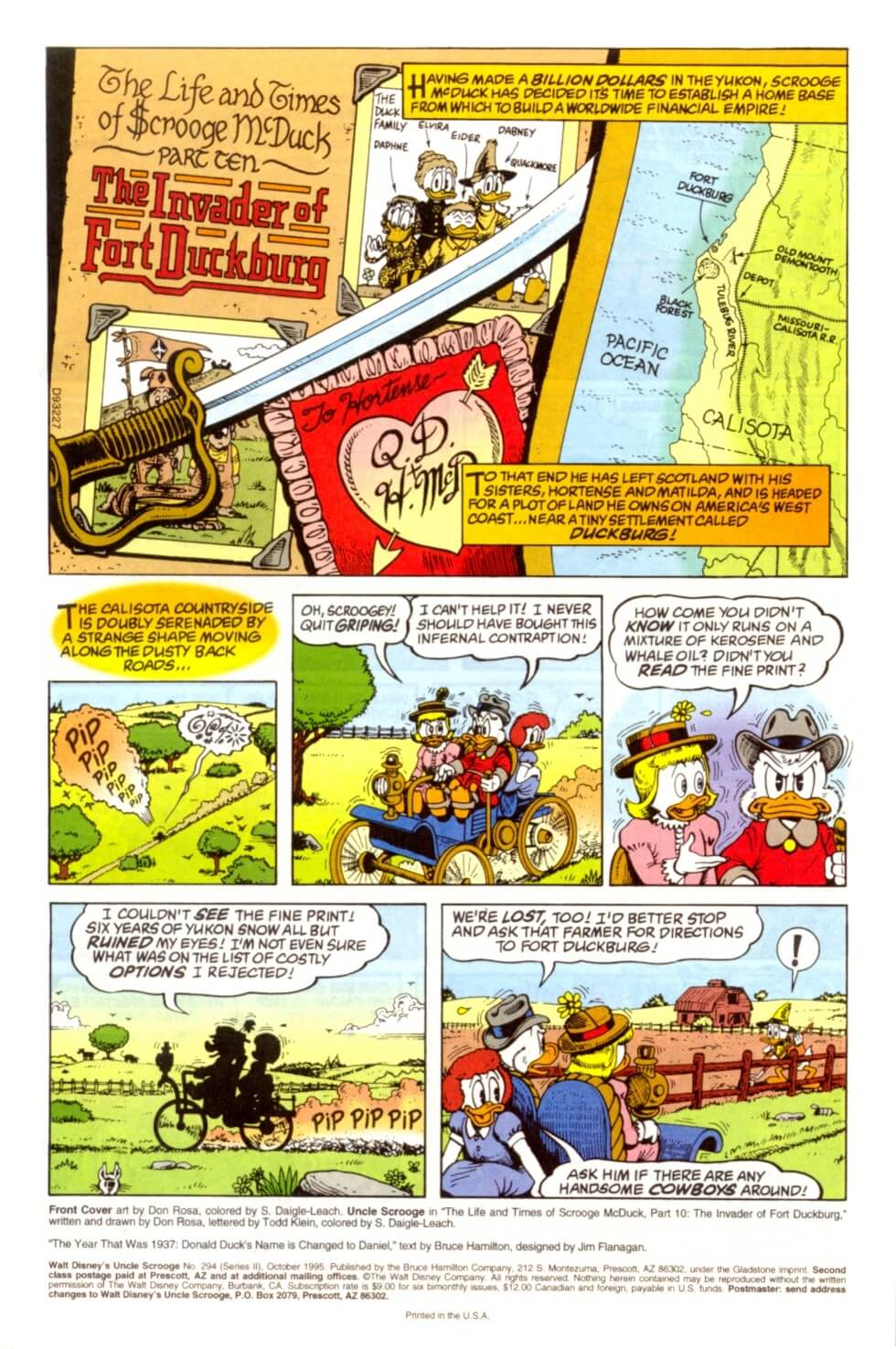 Chapter 10 - The Invader of Fort Duckburg first page