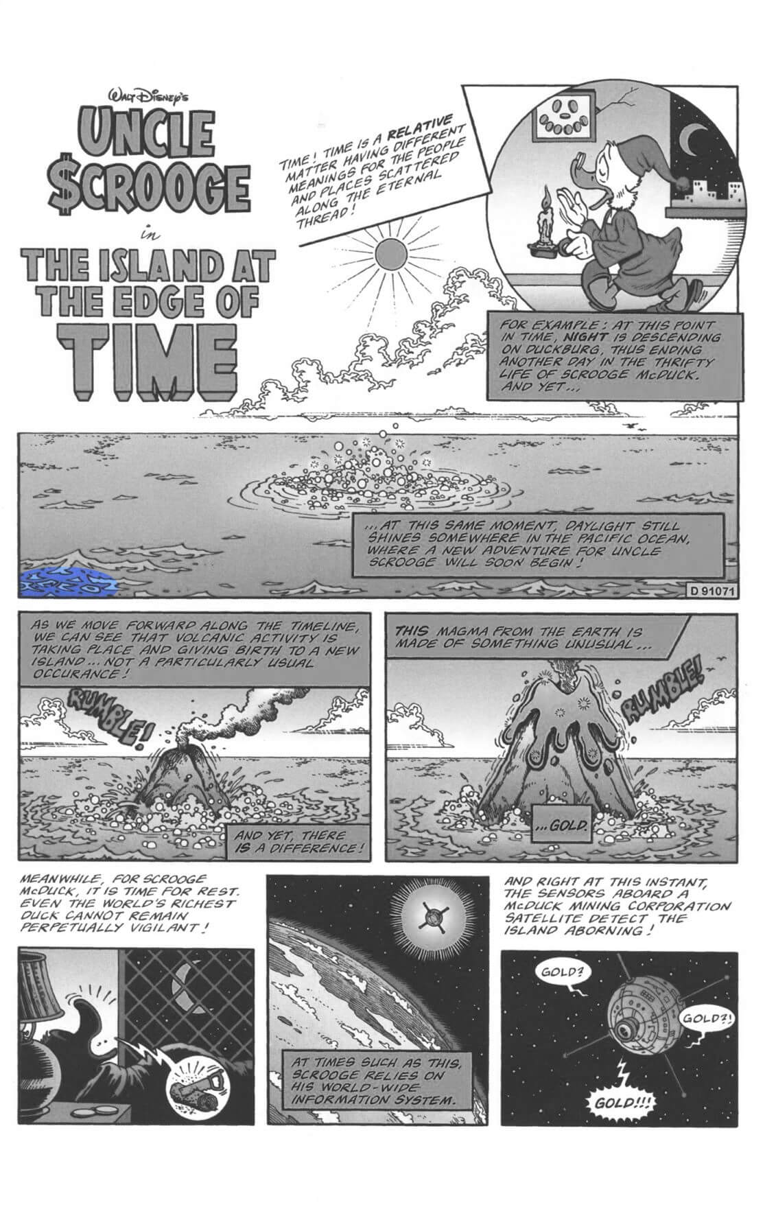 D.U.C.K in The Island at the Edge of Time first page